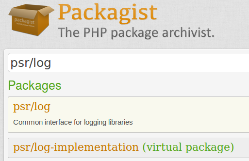 Virtual packages on Packagist